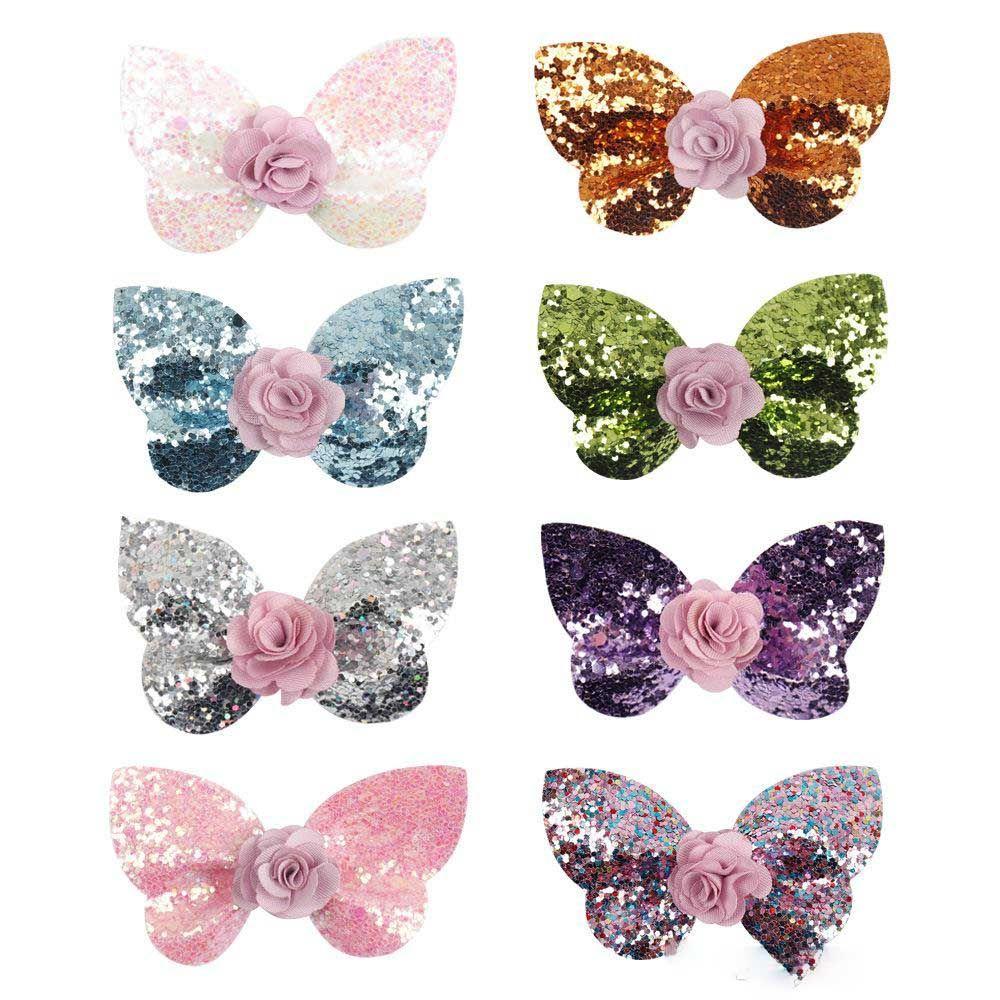 8-color 2.5 polegada de cabelo arcos unicórnio clipes de cabelo sequencia de natal arcos com flor charme meninas cabelo acessório presilhas