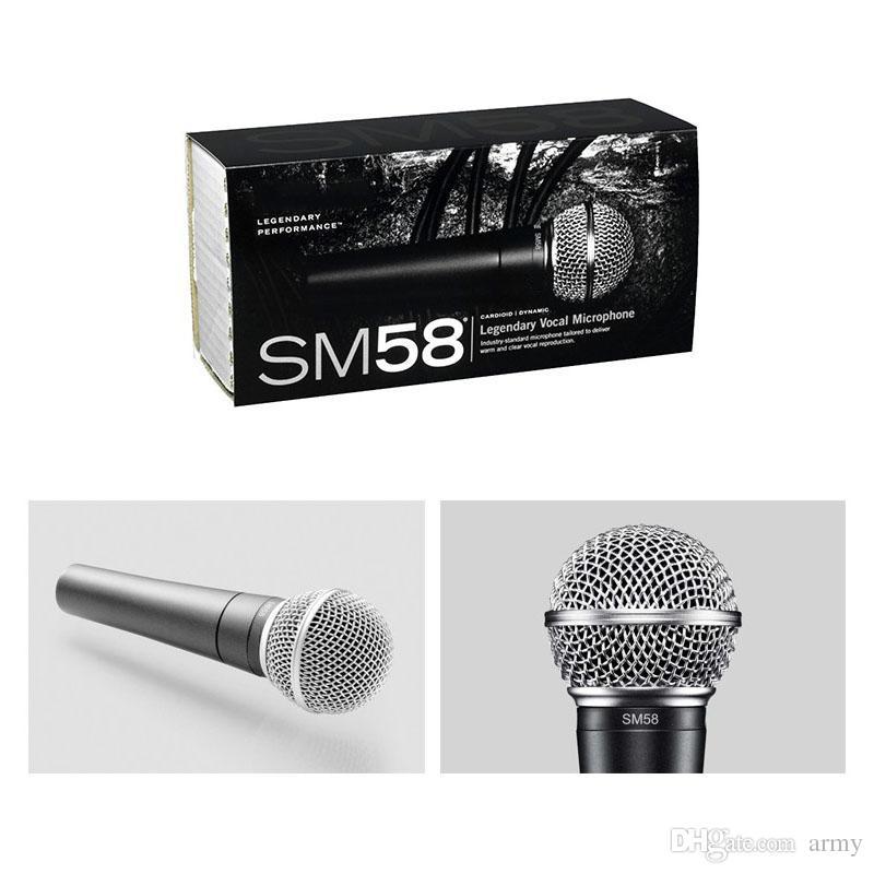 Sıcak SM 58 S Açık Kapalı Anahtarı ile Dinamik Vokal Mikrofon Vokal Kablolu Karaoke El Mic Yüksek Kalite Sahne ve Ev Kullanımı için Yüksek Kalite