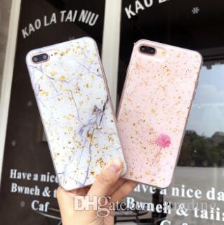 Glitter bling mármore folha de ouro paillette caso de telefone celular goldleaf tpu macio casos de volta capa para iphone x xs max xr 8 7 6 plus