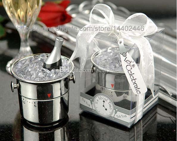 50pcs Smi Champagne Ice Bucket Kitchen Timers Wedding Party BOMBONIERE WEDDING GIFT Gift Gifts