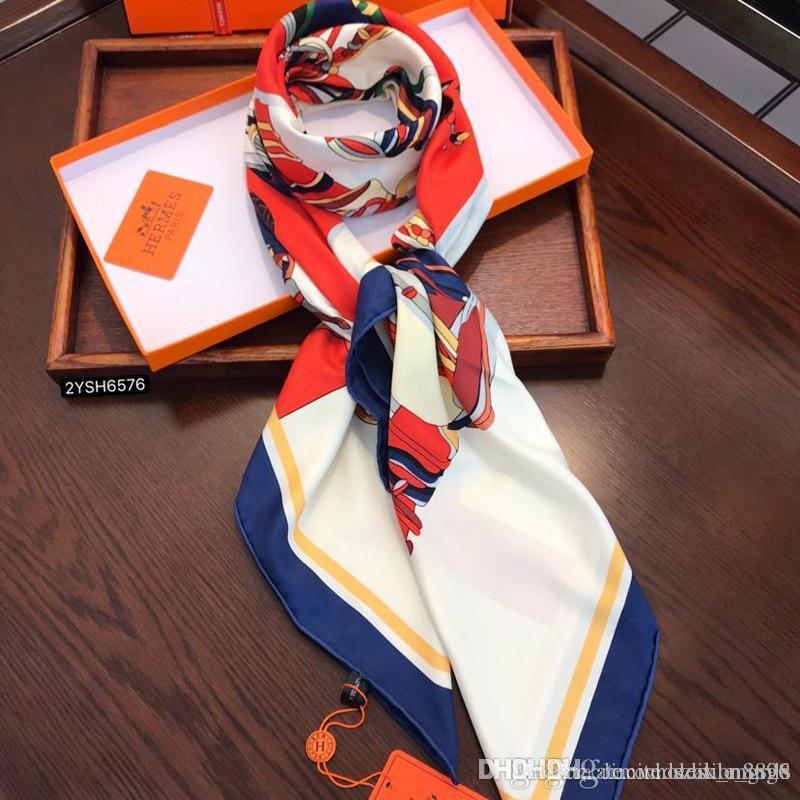 Echarpe de luxe Echarpe de luxe Marque de haute qualité en laine Soie Fil d'argent Foulards carrés Echarpe Pour femmes grand luxe Echarpe Mmi twill soie 140 * 140cm 12