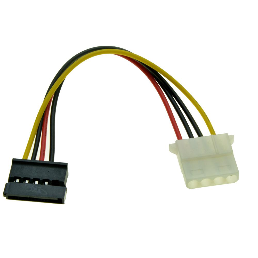 Molex to SATA Adaptor Cable Extension 2Pieces