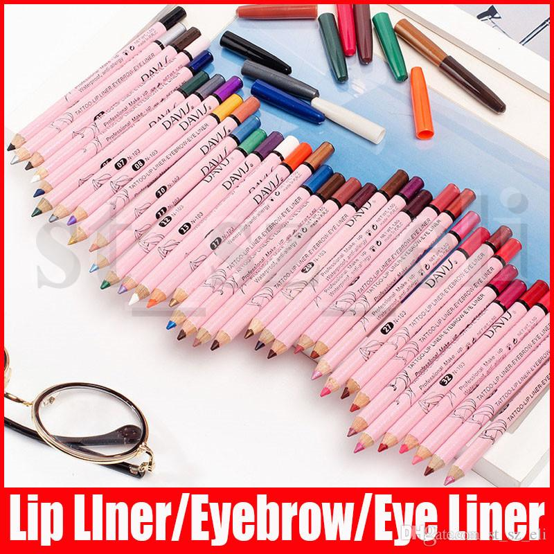 Matte Lip Liner Pencil Макияж 36 цветов долговечны Многофункциональные Глаза Губы Брови Пигментные Ню Lipliner Pen Косметика