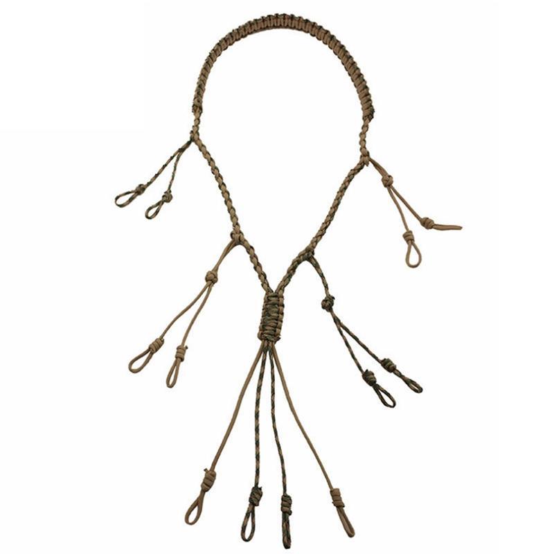 Открытый охоты Аксессуары Дикие птицы Whistle Прочный портативный нейлон вязания Lanyard Охота Поставки Multi-Function Whistle L