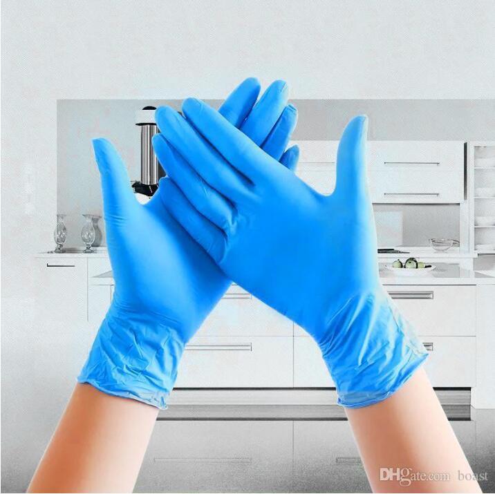 Beaucoup de stock! Gants jetables Nitrile de 4kinds des spécifications en option anti-dérapant Gants anti-acide Une qualité Livraison gratuite