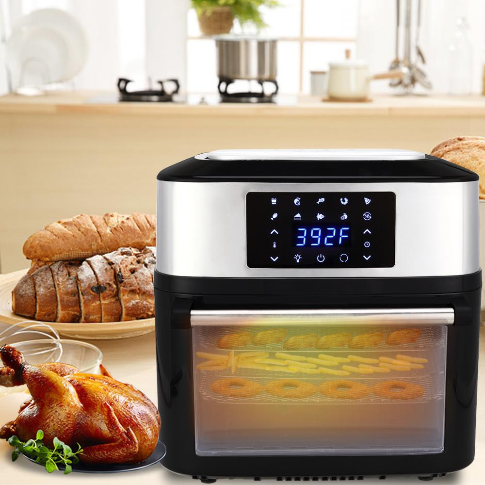 1800W 16L Air Fryer Deluxe 16.91Quarts All-in-One Air Fryer mit Ofen Rotisserie Dörr für Koch Fry Grill backen