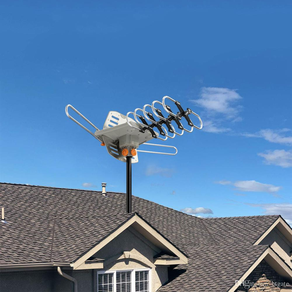 HDTV Наружная амплифицированная HD ТВ антенна Цифровой сигнал UHF / VHF 360 ° Вращение Открытый сигнал Усилительная антенна Горячая распродажа