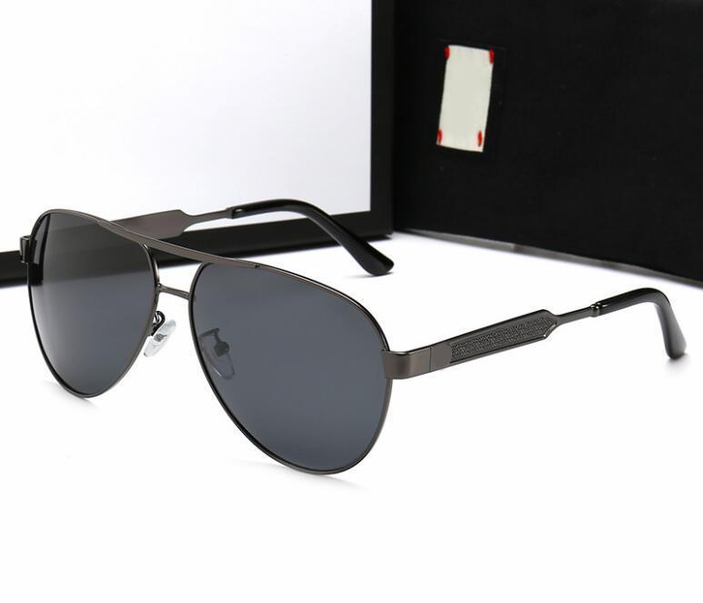 2020 nuevas gafas de sol para los hombres visión nocturna gafas de sol de conducción polarizado gafas de sol del LetterLV-off 0134