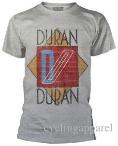 Duran logotipo cinzento Camiseta NOVO OFICIAL