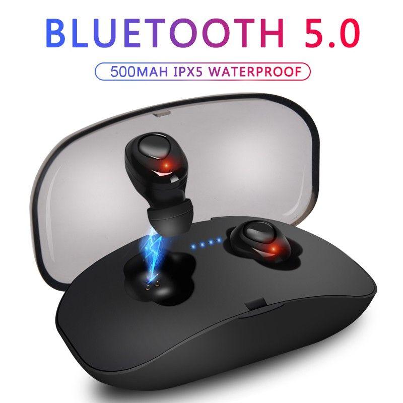 X18 TWS Wireless Headphones Bluetooth 5.0 senza fili Cuffia HiFi X18S Sport auricolare con microfono ricarica Box per IOS Android