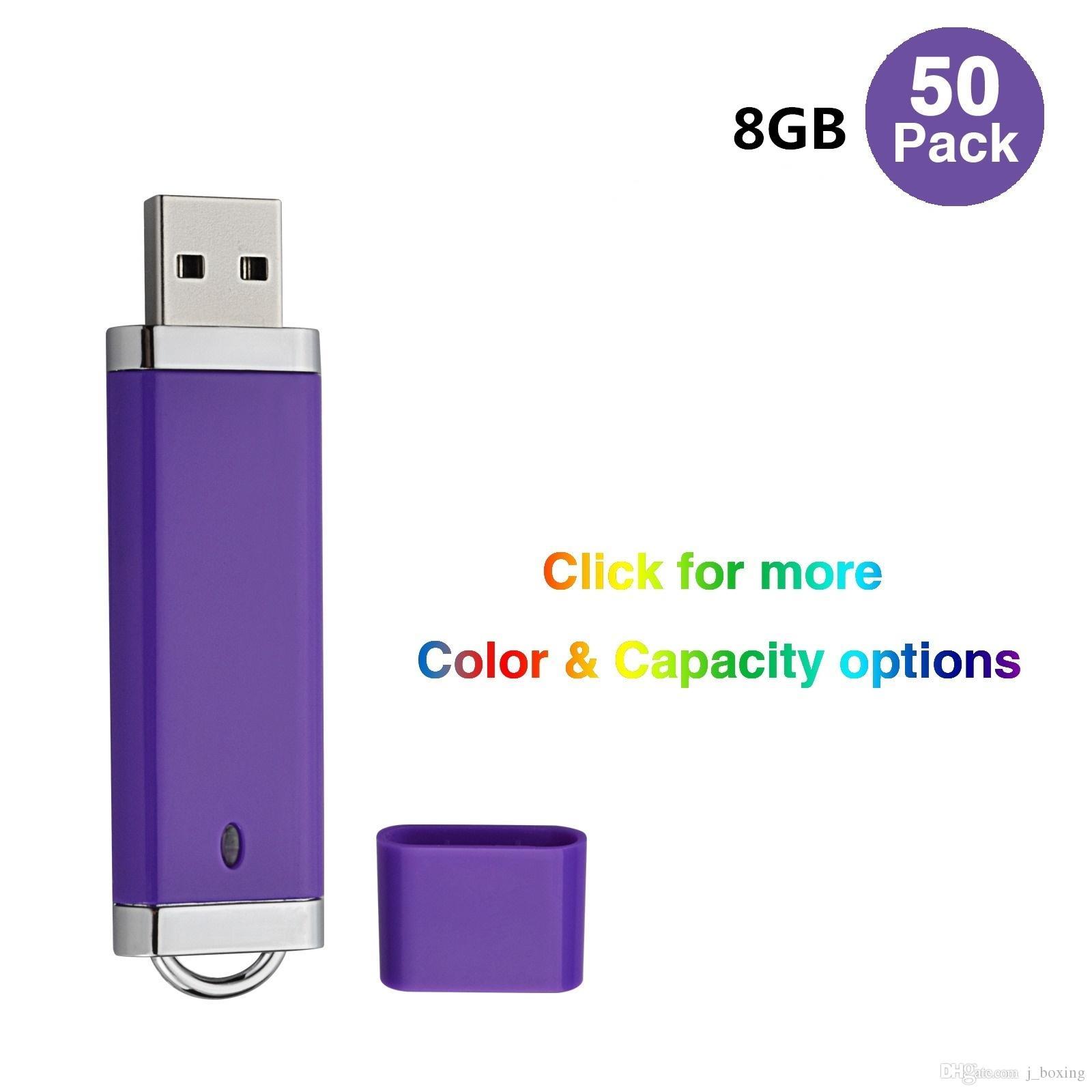 Bulk 50PCS 8GB USB 2.0 Flash Drives Lighter Design Flash Pen Drive Memory Stick Thumb Storage for Computer Laptop LED Indicator Multi-colors