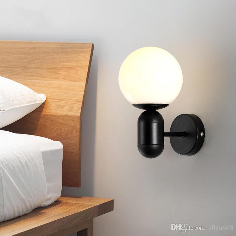 2019 Modern Wall Lamp Bedroom Bedside Wall Light Sconces Lighting Light  Indoor Home Decor Wall Mounted Light Fixtures From Allen668, $51.09   ...
