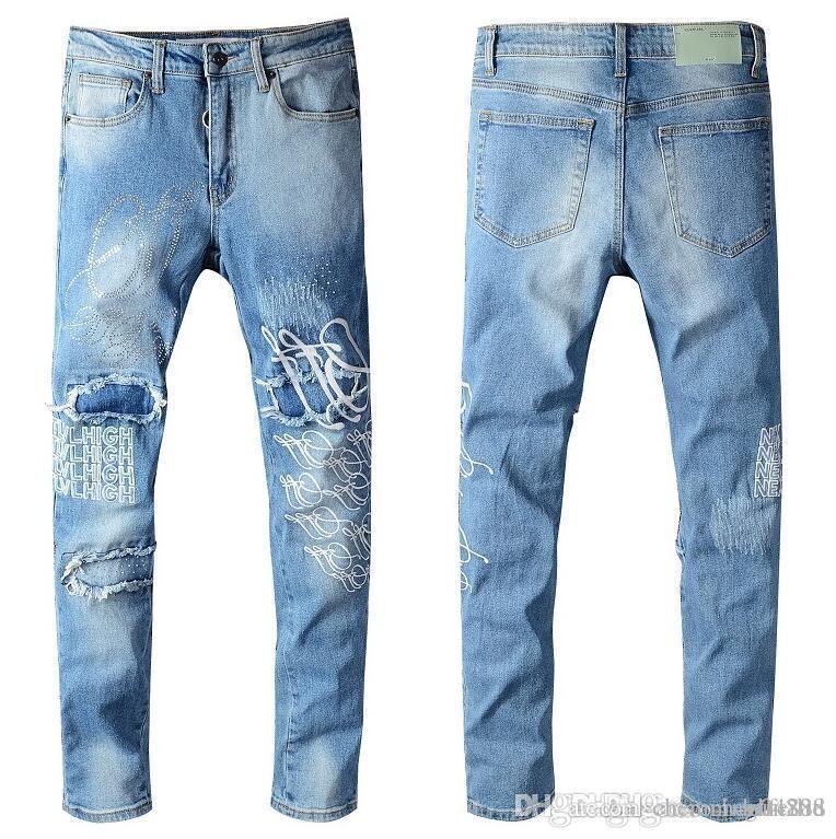 Été 2020 jeans hommes en gros, la production de denim européenne de bon accueil de vêtements pour hommes de qualité à la taille 28-38: 44-54 095