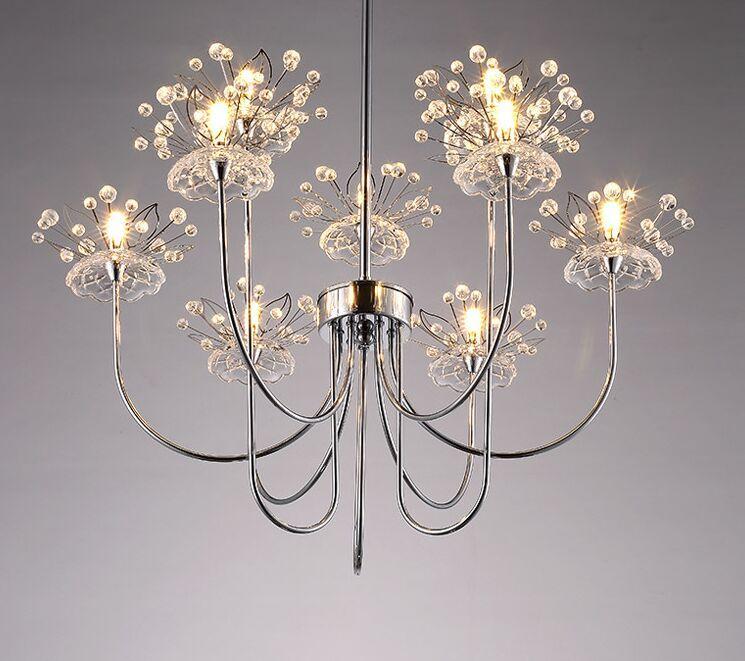 Moderne LED-Kristall-Kronleuchter Restaurant-Beleuchtung Schlafzimmer Leuchten Raumbeleuchtung Neuheit leben Lampen Nordic Hängeleuchten MYY