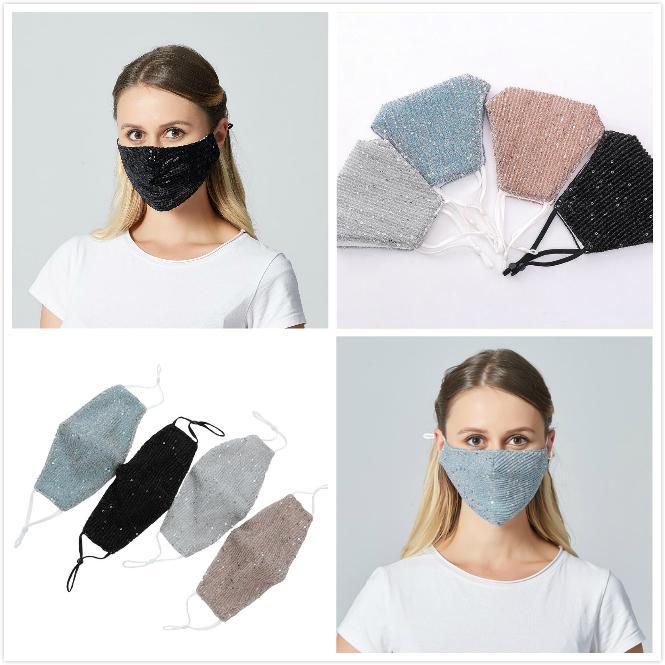 Seksi Pullu Ağız Maskeleri Koruma Yüz Maskesi Yetişkin Anti Toz Ağız Nefes Yıkanabilir Yeniden kullanılabilir Yüz Maskeleri Maske