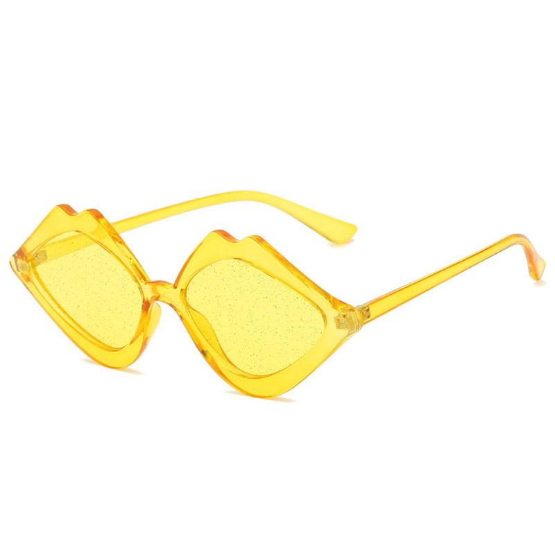 Fashion Design Lip Shaped Sunglasses Classic Vintage Women Sun Glasses Sexy Eyewear for Lady Gafas UV400 Shades