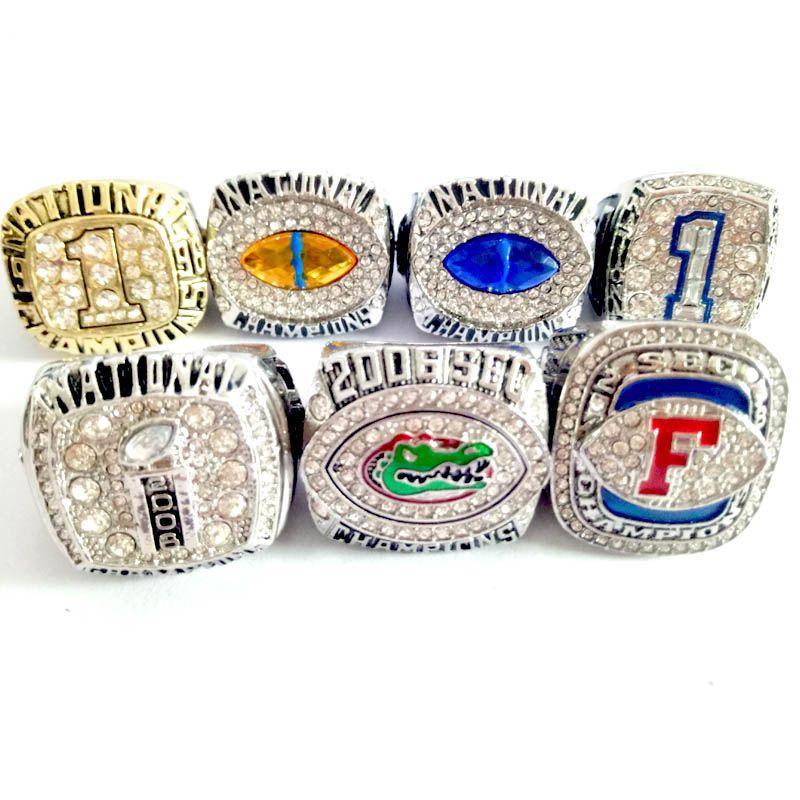 1996-2006-2006-2007-2008-2008-2008-florida gators anel de campeão Conjunto de campeõesRing Fan Gift atacado Drop ShippingCollector's best gift