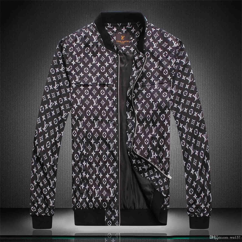 Veste de mode hommes coupe-vent manches longues vestes pour hommes Hoodie Vêtements Zipper Avec rue Motif Lettre animal Vêtements M-3XL