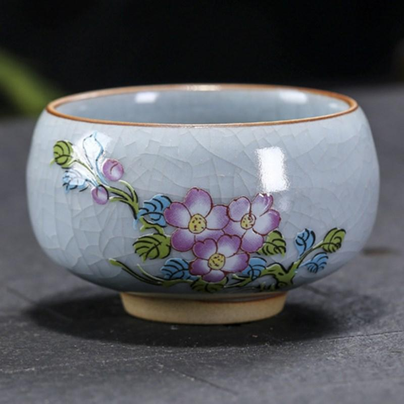 Flower Tea Cup Natural Garden Ceramic cup Coffee Porcelain teacup drinkware Gifts