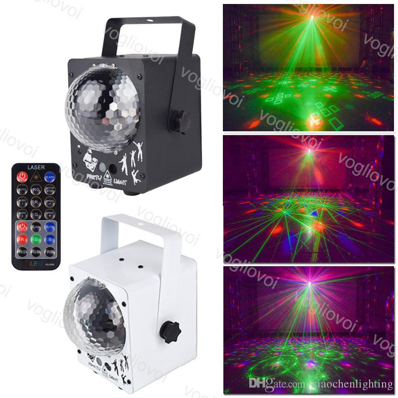 Laser lighting 5W 60 Pattern RGB Projector Effect Aluminium Voice Activate For Stage Lighting Disco Home Wedding Party DJ Equipment DHL
