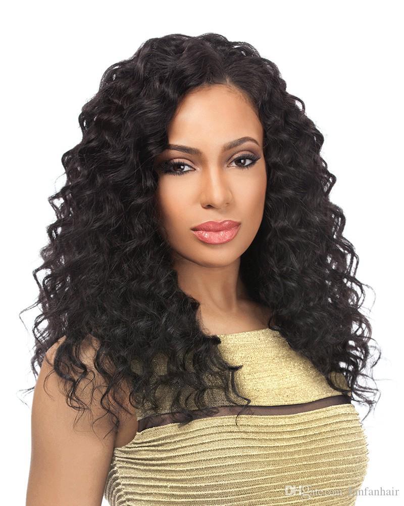 Бразильские глубокие волны человеческих волос 3 пучка с закрытием Бразильские пучки волос с закрытием Реми человеческих волос