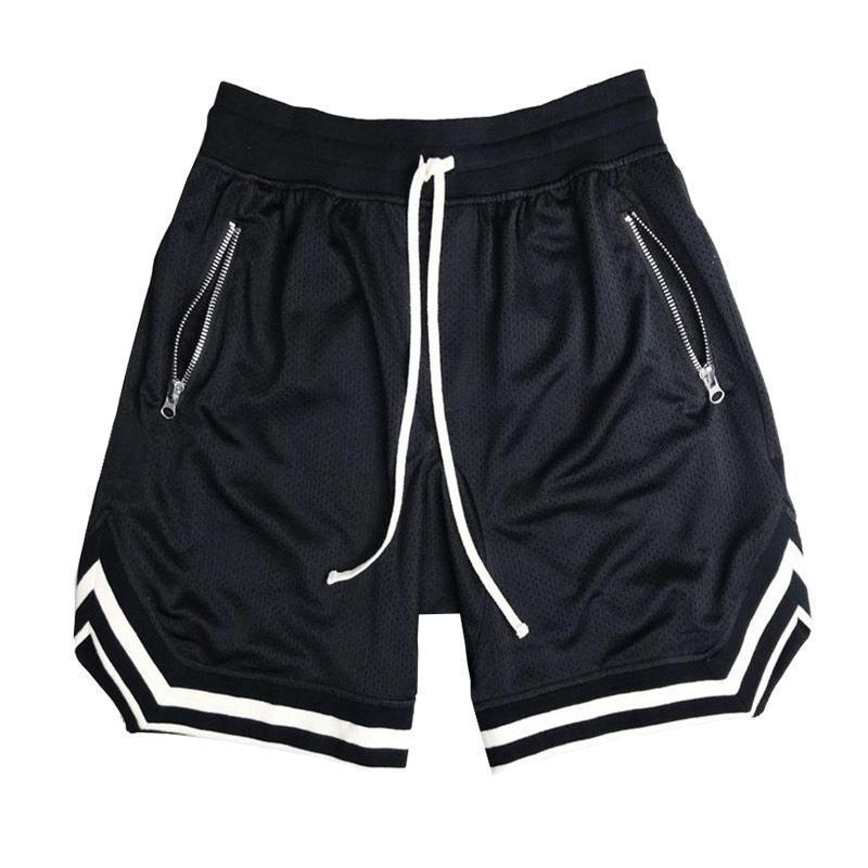 mens Musculation maillot canasta más del tamaño de malla pantalones cortos de baloncesto corta homme Hip hop verano los hombres pantalones casuales Pantalones sueltos
