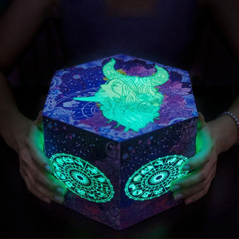 Fluoreszierende Überraschung Love Explosion Box Geschenk Constellation Für Jahrestag Scrapbook Foto-Geburtstags-Valentine-Geschenkbox