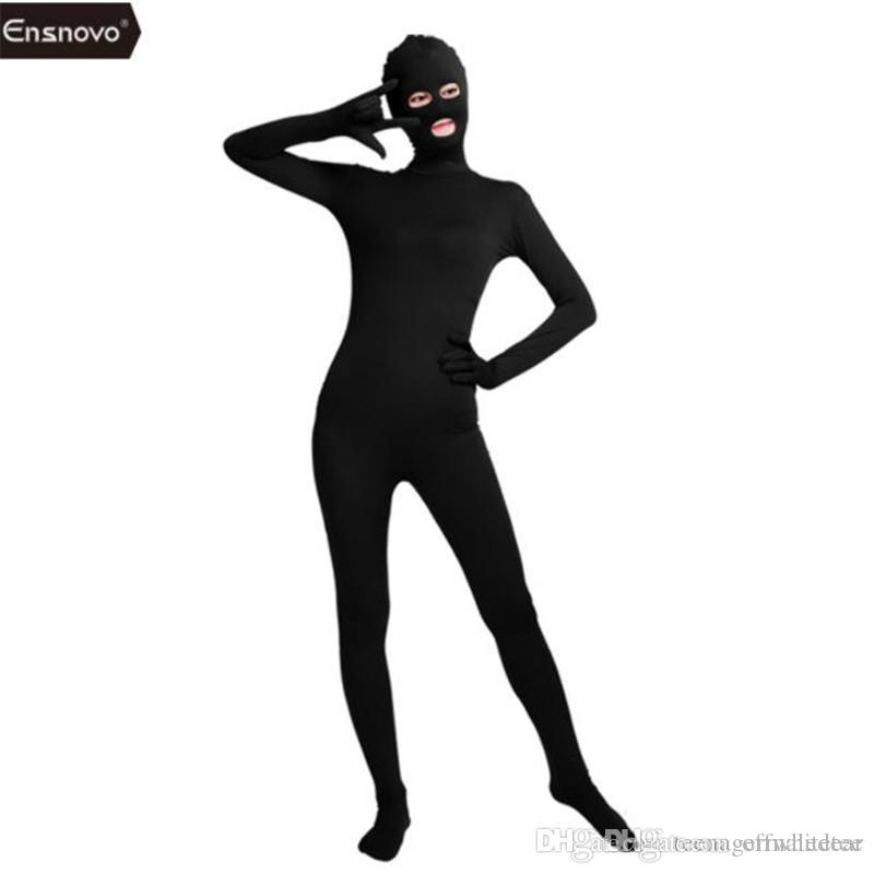 Halloween Skinny Catsuit Costumes Fashion Lycar Spandex Long Sleeve Unisex Classic Cosplay Costumes