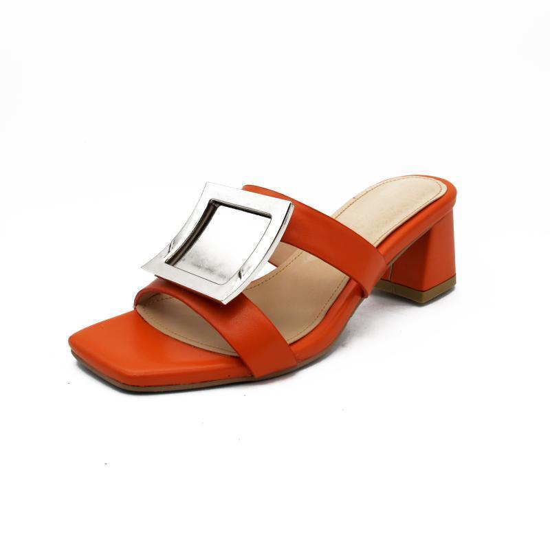 Meşgul Kız kare ayak terlik, ladie kare topuk ayakkabı, yazlık terlik, deri terlik kadınlar, özel terlik, deri terlik,