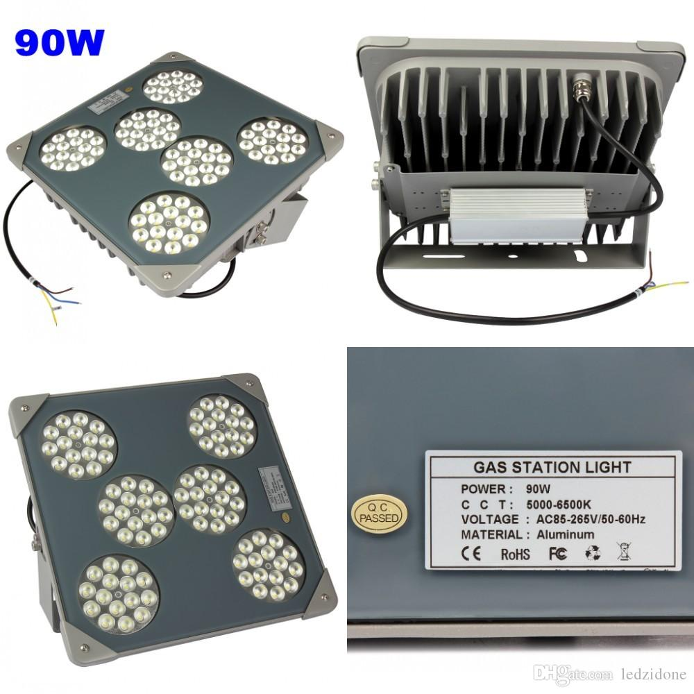 LED Floodlights Gas Station Lamp Outdoor Led Explosion-proof Lighting 75W 90W 120W Waterproof Industrial Lighting Fixture 5 Years Warranty