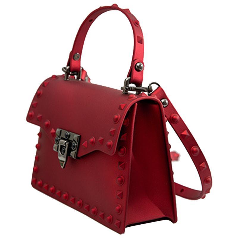 Abdb-frauen Frauen PVC Handtaschen Messenger Bags Handtaschen Tasche Mode Tasche Umhängetaschen Frauen Geleeder CDFVJ