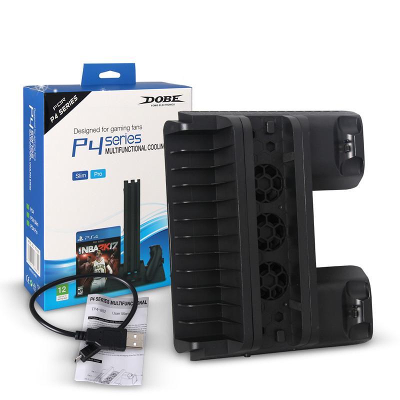 PS4 SLIM PRO الكل في واحد المراقب شاحن مقعد قوس قاعدة اللعبة مؤشر الشحن التبريد الرف القرص مروحة لSONY بلاي ستيشن 4 MQ20