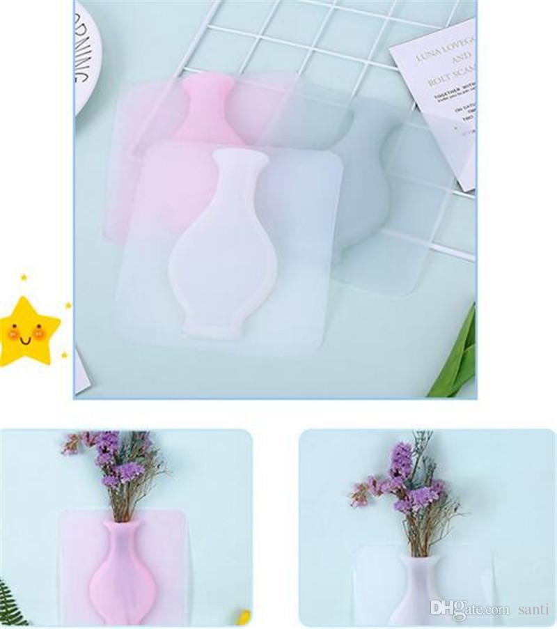 크리 에이 티브 실리콘 꽃 냄비 수제 야외 꽃병 홈 인테리어 액세서리 꽃병 꽃병 Office Vasos Para Jardi