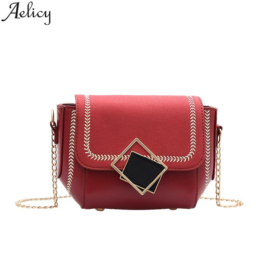 Aelicy Bag For Women PU Leather Bags Ladies Handbag Shoulder Messenger Bag Luxury Designer Crossbody Large Capacity Bags Tote