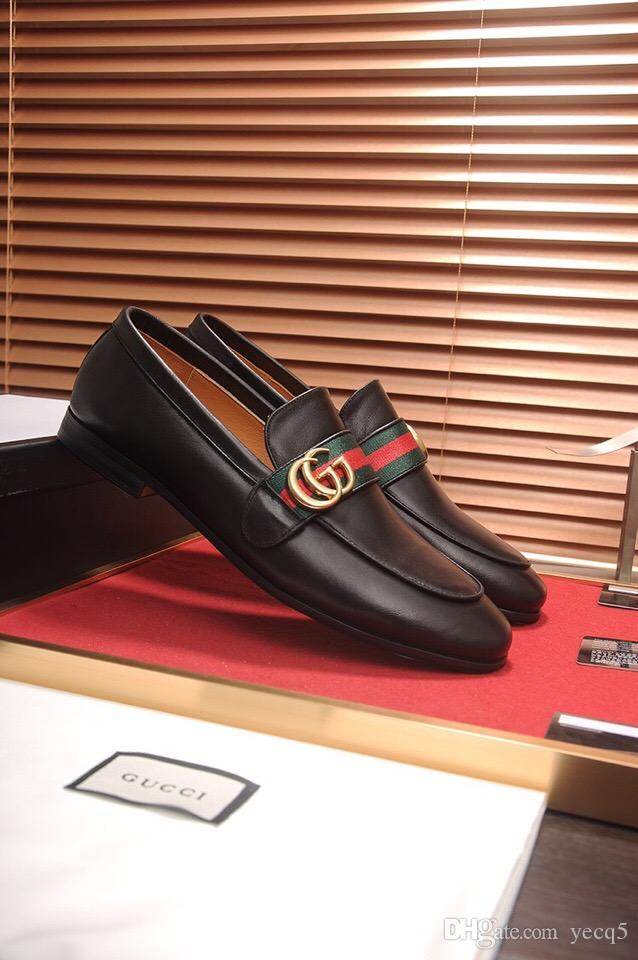 18ss Designers 2018 Echtes Leder Männer Brogues Schuhe Lace-Up Ochsen Business Kleid Männer Oxfords Schuhe Männliche Formale Schuhe