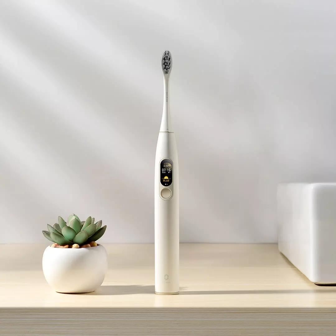 حررت سفينة XIAOMI youpin العالمية لكن الإصدار Oclean X لXIAOMI سونيك فرشاة الأسنان الكهربائية القابلة لإعادة الشحن للماء الأسنان بالموجات فوق الصوتية الكبار فرشاة
