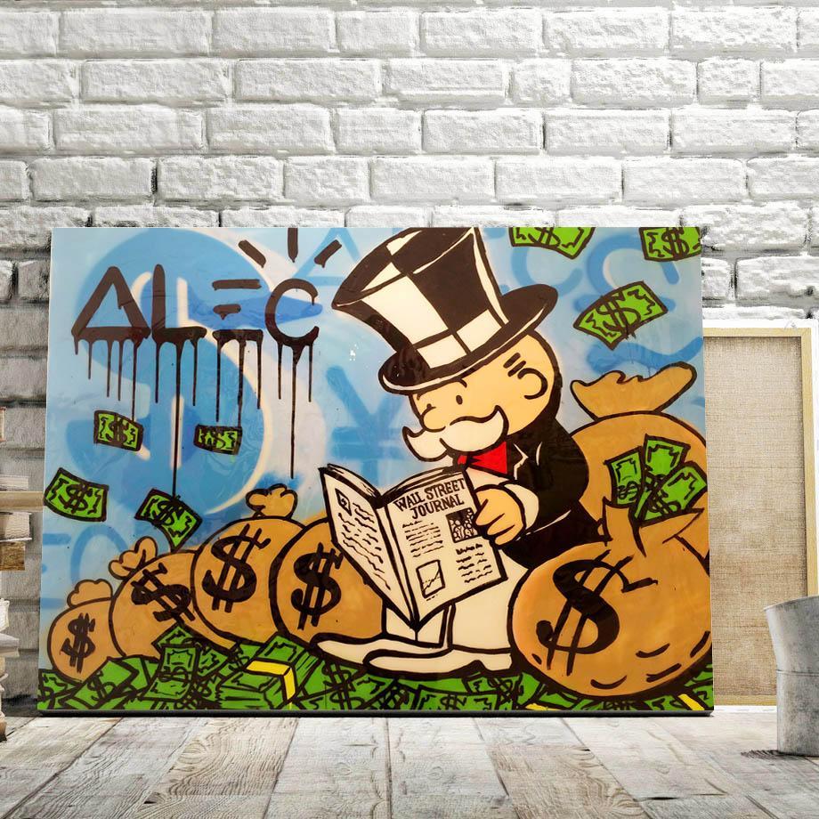 New Modern Graffiti Street Art Cartoon Posters And Prints Canvas Painting Wall
