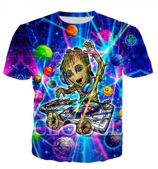 Più nuovo modo Mens / Womans DJ Musica rock stile estivo Tees 3D stampa casuale T-Shirt Top Formato più BB0126