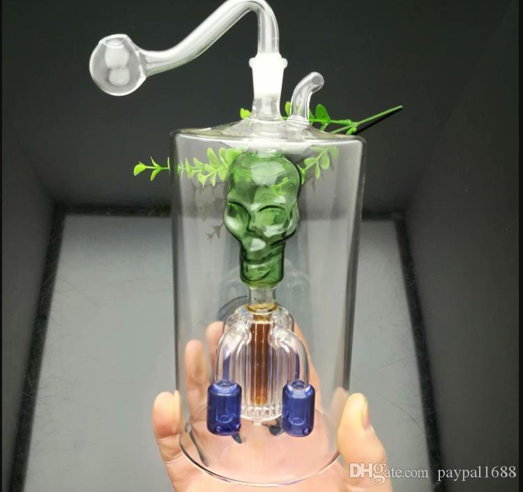 Четыре-коготь фильтр чайник под супер-большого верхнего череп Стекло Бонгов Стекло для курения водопроводной трубы Rig шлангов стекла Чаши Oil Ожога