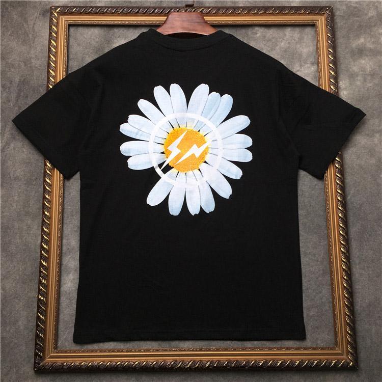 nuevas flores lindo de la camiseta 100% tela exquisita simples de los hombres de la moda del diseño 2020 del diseñador