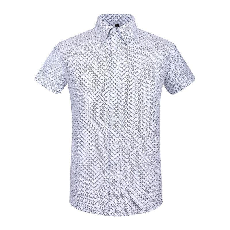 Camicia a maniche corte Uomo Estate Moda Slim marinaio Elemento vestito dalla stampa Maglietta extrasize camicia maschile sociale Meraviglioso