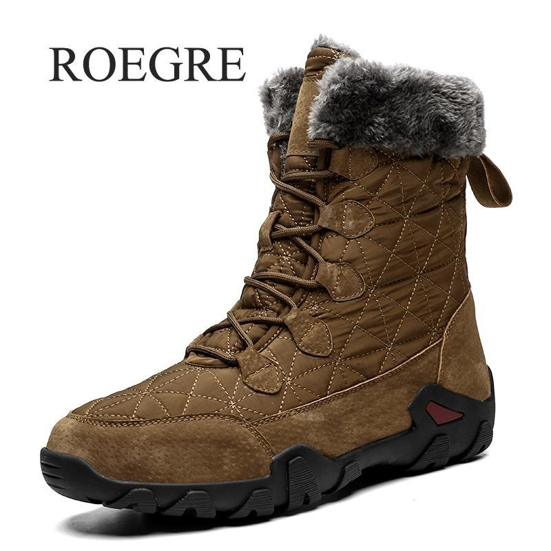 Winter With Fur Snow Boots For Men Sneakers Male Shoes Adult Casual Quality Waterproof Ankle -30 Degree Celsius Warm Boots 46 47 CJ191205