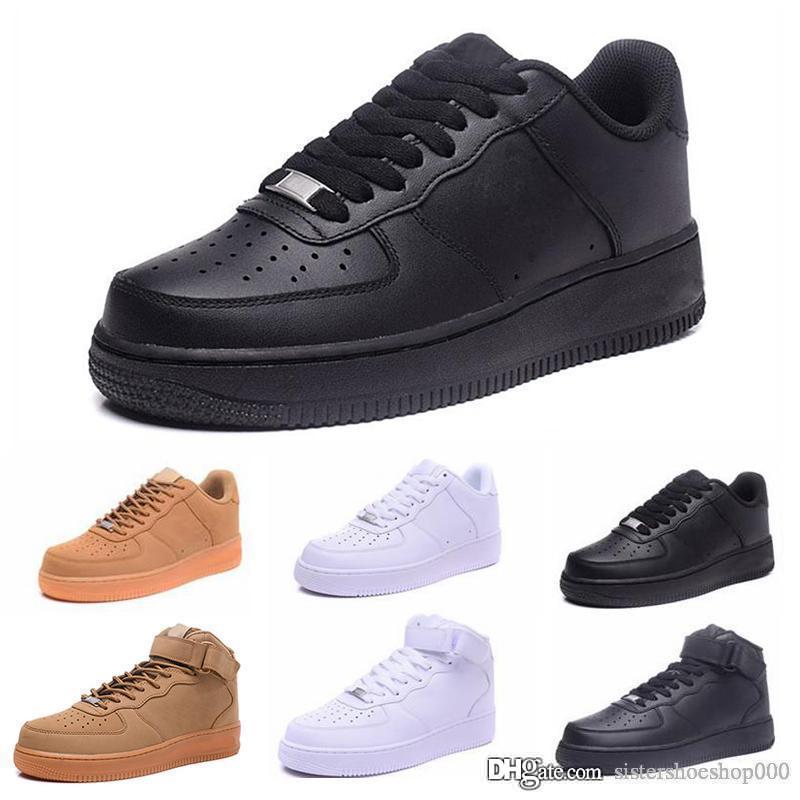 nike air force 1 one dunk Marque discount Dunk Hommes Femmes Flyline Chaussures De Course, Chaussures De Skateboarding Haut Bas Coupe Blanc Noir Baskets De Plein Air Baskets