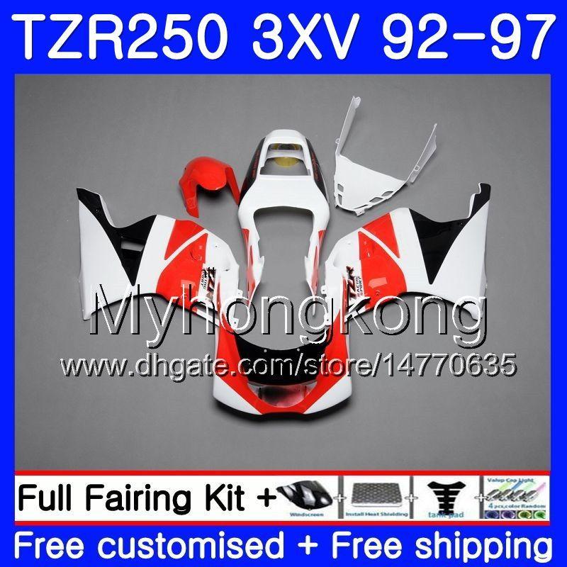 키트 YAMAHA TZR250RR 용 RS TZR250 화이트 핫 92 93 94 95 96 97 245HM.39 TZR 250 3XV YPVS TZR 250 1992 1993 1994 1995 1996 1997 페어링