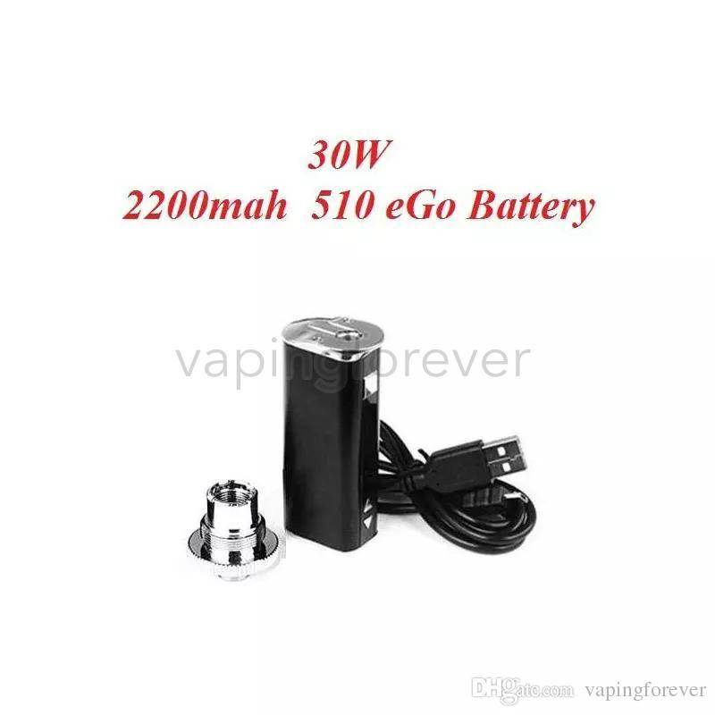 En Kaliteli E-sigara Mini 30 W Pil Mod Takımı 30 Watt 2200 mah Pil ile Ayarlanabilir Gerilim OLED Ekran Basit Ambalaj