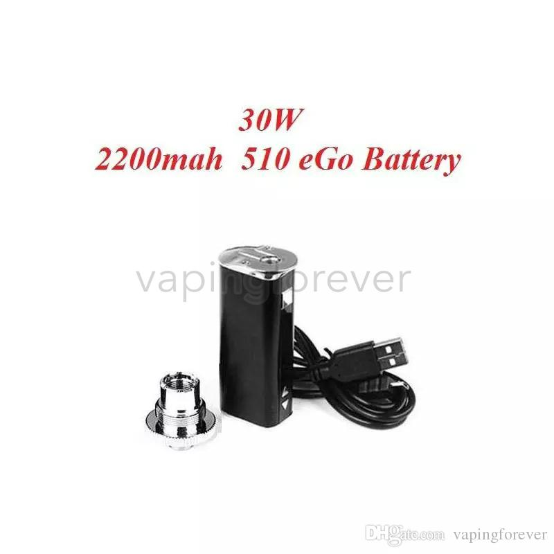 Высокое качество электронной сигареты мини 30 Вт батареи Mod комплект 30 Вт 2200 мАч аккумулятор с регулируемым напряжением OLED-экран простая упаковка