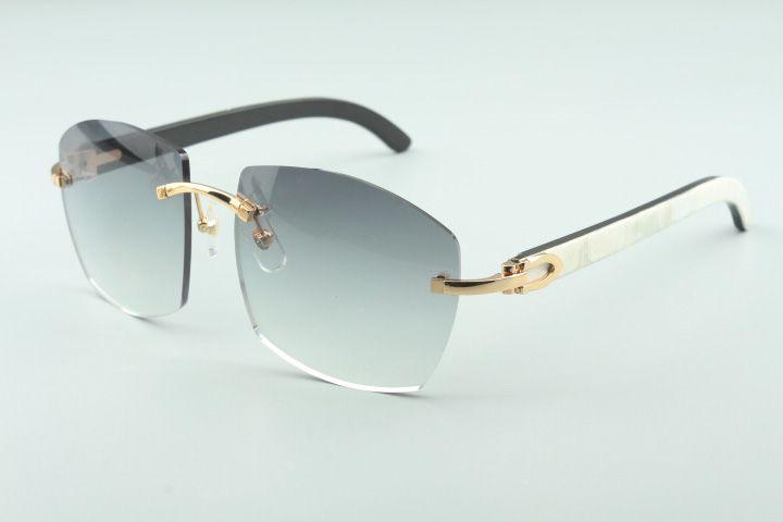 Hot novos óculos A4189706 templos naturais selvagens brancas e pretas híbrido chifre de búfalo, Fábrica de qualidade superior direto óculos de moda unissex.