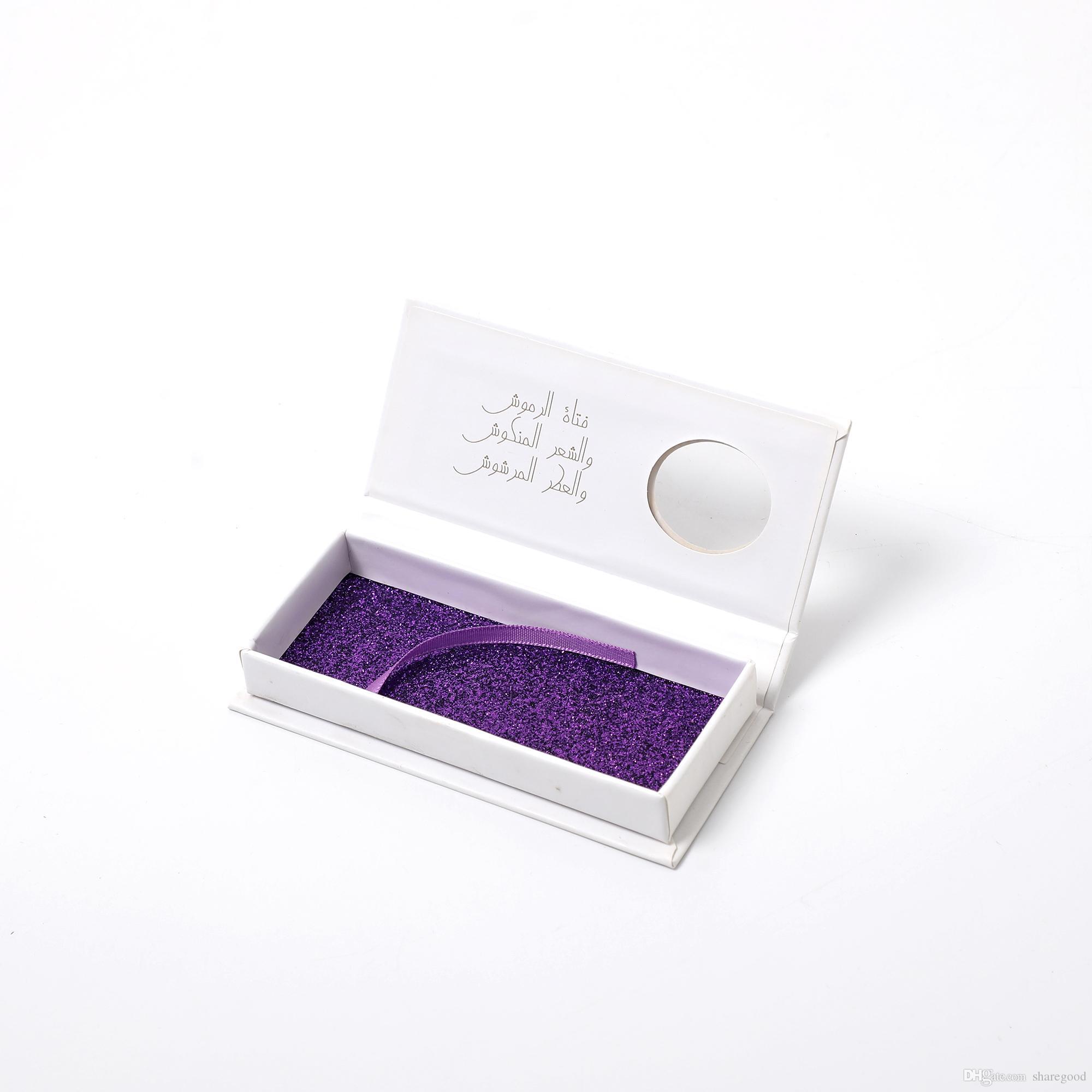 Caja de pestañas falsas 3D Ventas al por mayor Hermosa Estampación de oro Impreso LOGO cuadrado Cajas de embalaje de pestañas de cartón