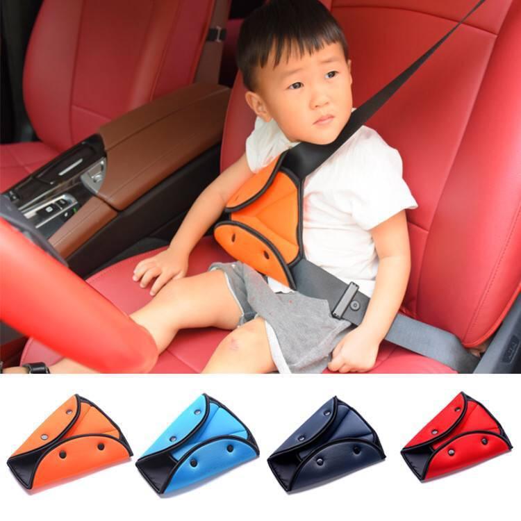 العالمي الآمن السيارة حزام الأمان غطاء لينة قابل للتعديل مقعد المثلث حزام الأمان وسادة حماية كليب لأحزمة الطفل الطفل