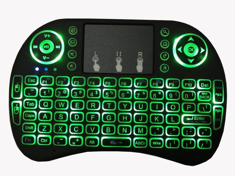 Rii I8 2,4 ГГц беспроводная мышь Gaming Клавиатуры Белый Подсветка Многоцветный Подсветка Мышь Пульт дистанционного управления для телевизора Android Boxes MXQ PRO x96